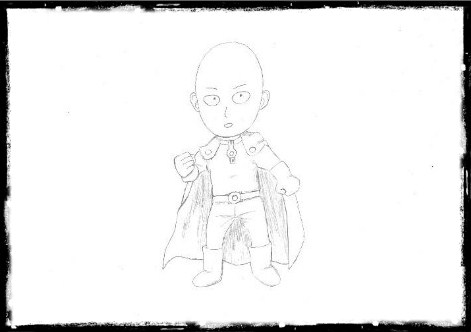 Matt's Drawing of One-Punch Man Saitama