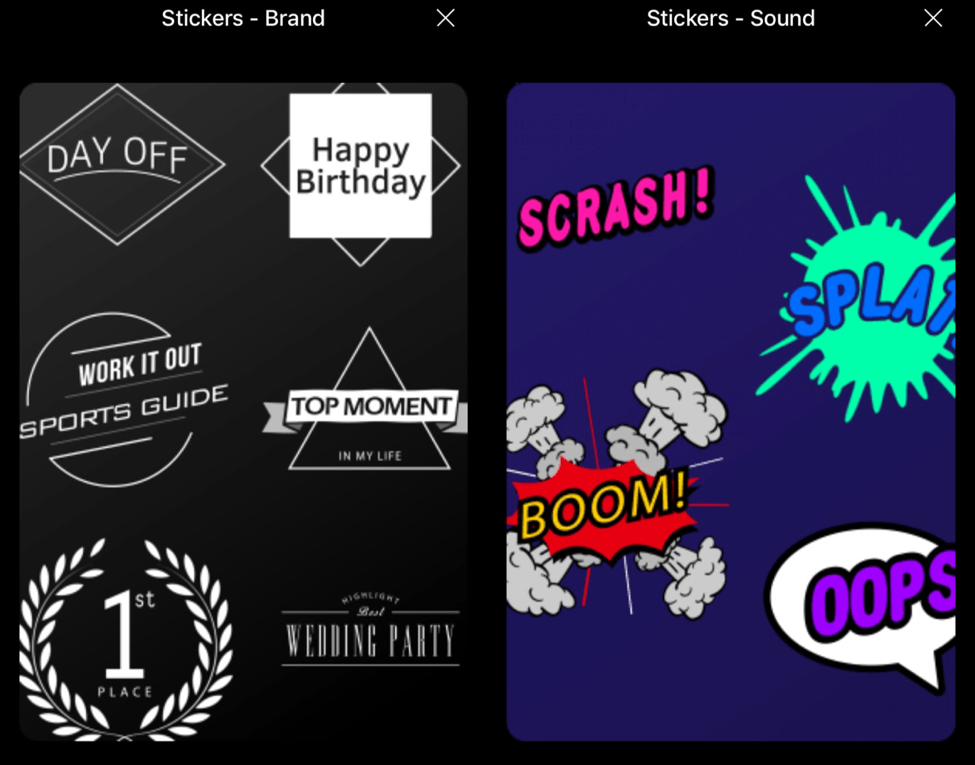 Write on video motion stickers