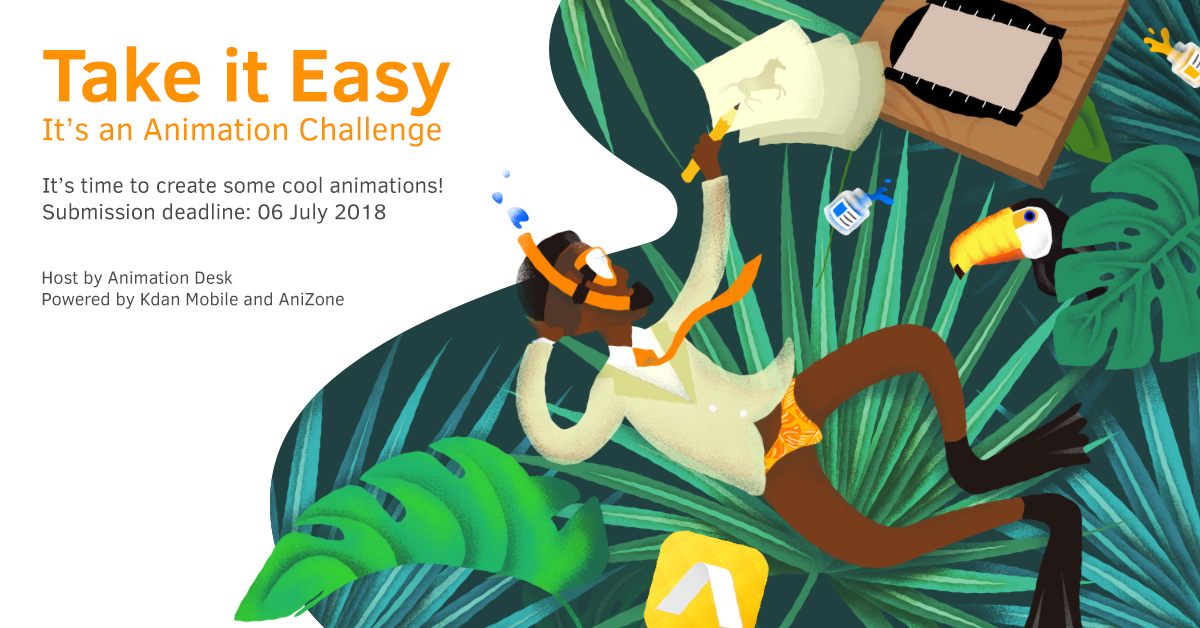 New Animation Challenge – Take it Easy this Summer