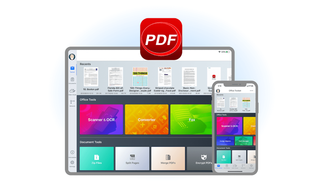 Download PDF Reader for your iOS devices.
