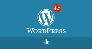 wordpress aggiornamento 4.7