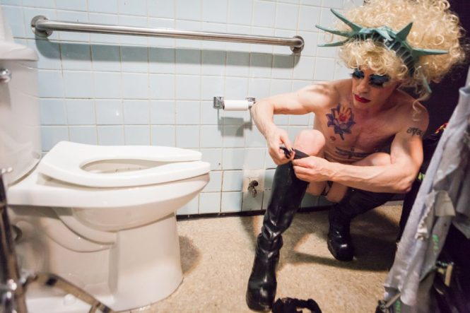 Photos of burlesque performer Faux Pas by NYC photojournalist, Kelly Williams