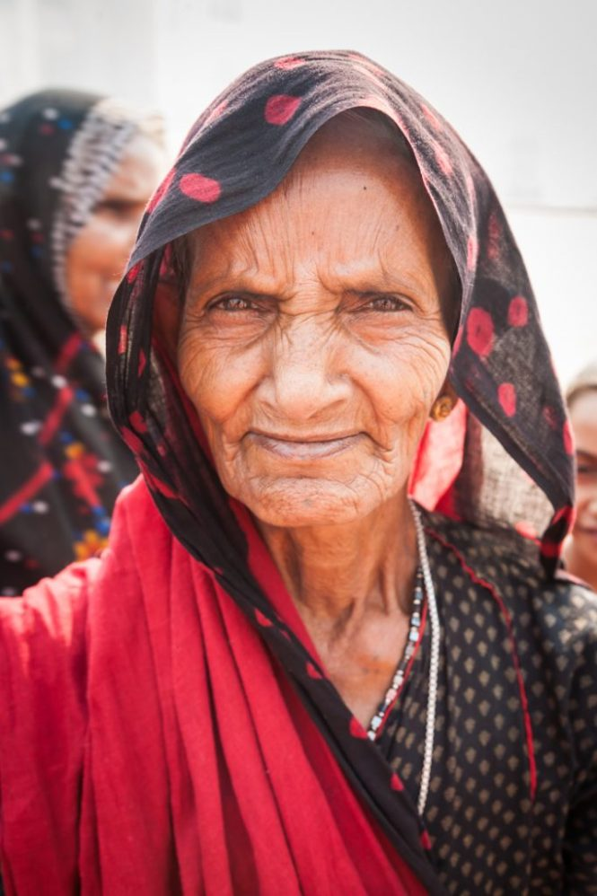 Old woman in Agra, India