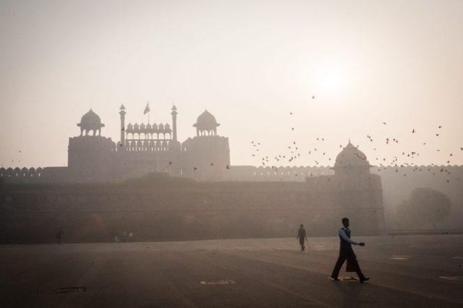 Street scene in Delhi, India