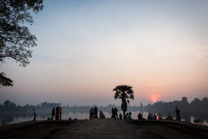 Srah Srang at sunrise for an Angkor Wat temple guide