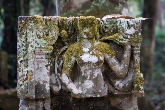 Relief sculpture for an Angkor Wat temple guide