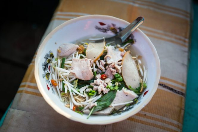 Bowl of pho at the Cai Rang Floating Markets