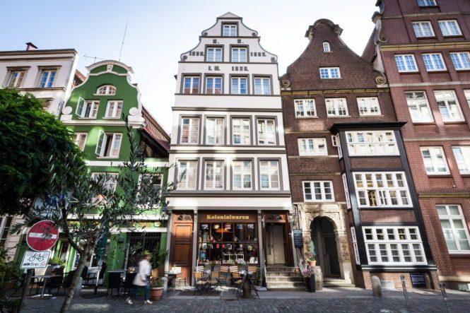 Old shops in Hamburg, Germany