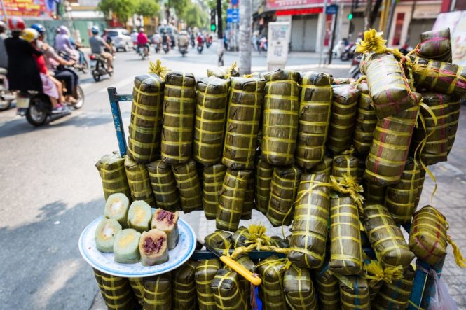 Mung bean cake for article on Ho Chi Minh City street photos