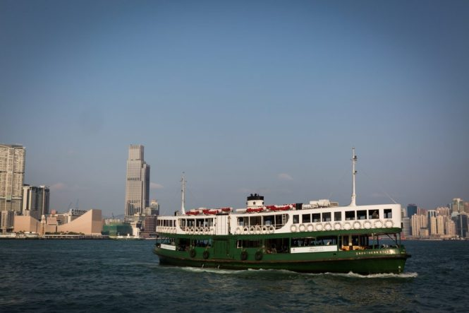 Star Ferry for a Hong Kong travel guide article