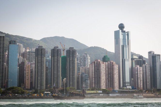 Waterfront view of Hong Kong for a Hong Kong travel guide article