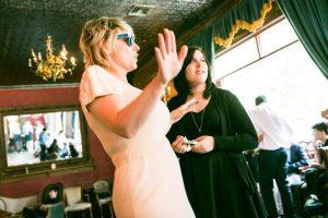 A karaoke performance, by NYC bat mitzvah photographer, Kelly Williams
