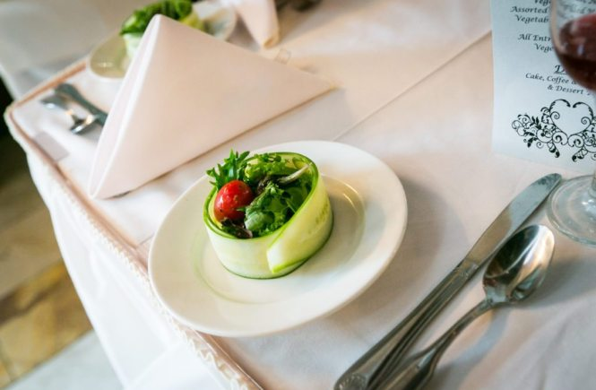 A place setting photographed for an article on how to trim your guest list, by NYC wedding photojournalist, Kelly Williams