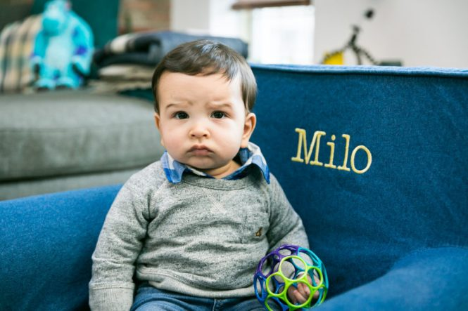 Portrait of a child for an article on indoor baby portrait tips
