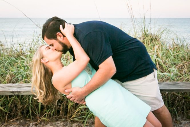 Florida engagement portrait for an article on creative wedding gift bag ideas