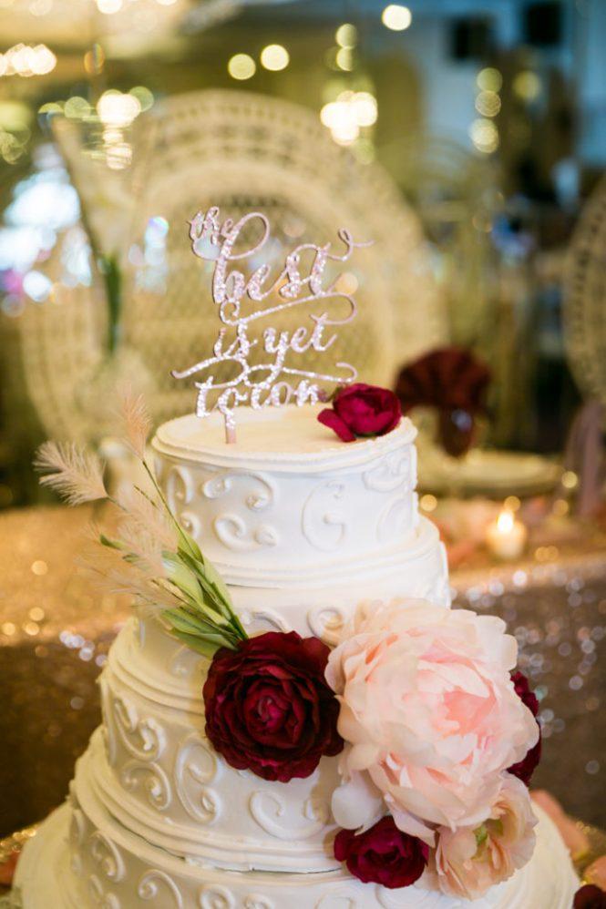 Wedding cake at a Glen Terrace wedding