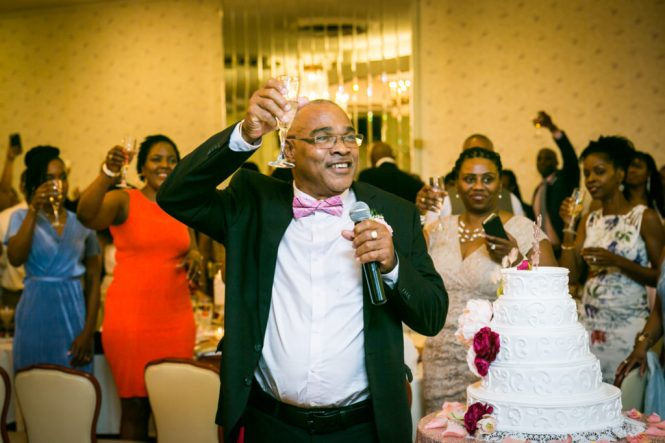 Father of the bride giving a toast at a Glen Terrace wedding