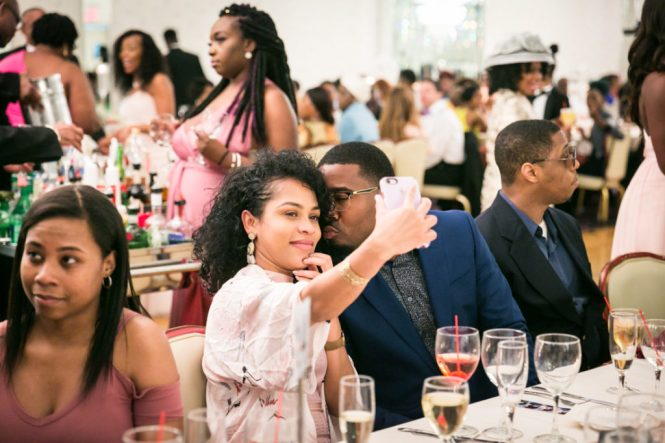 Guests taking selfie at a Glen Terrace wedding