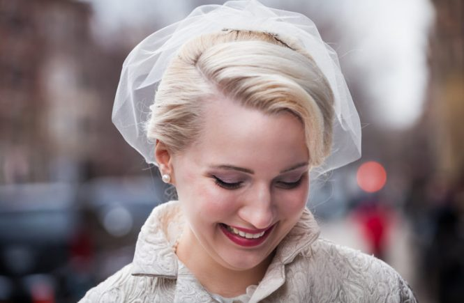 Bride before her Scottadito wedding