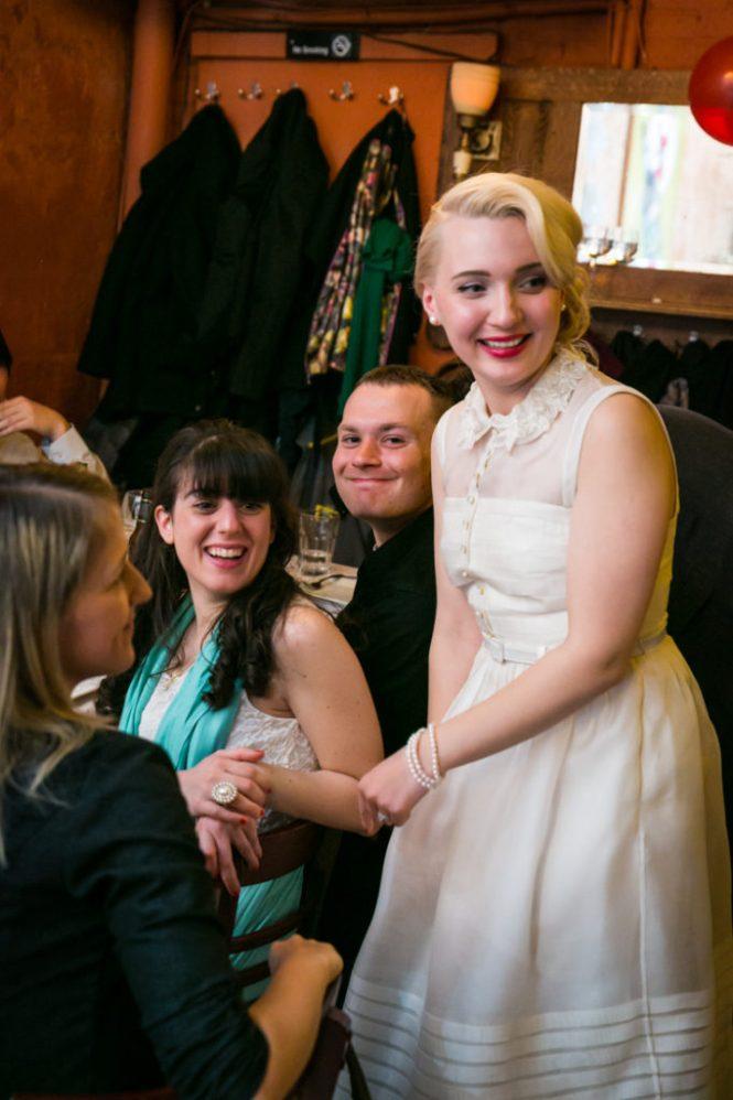 Bride and guests at a Scottadito wedding
