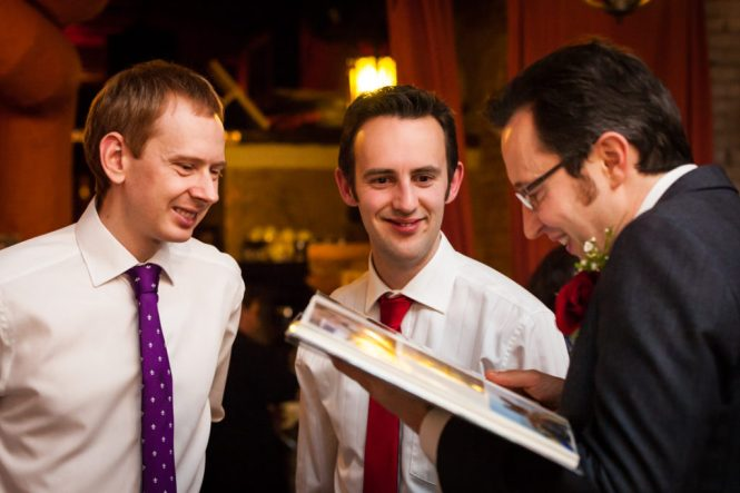 Groom and guests at a Scottadito wedding