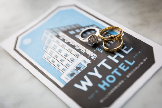 Rings at a Wythe Hotel wedding