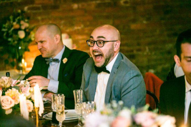 Guests enjoying a Wythe Hotel wedding