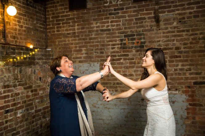 Guests dancing at a Wythe Hotel wedding
