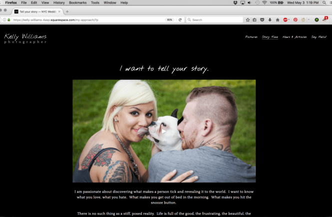 New mission statement video for Kelly Williams, Photographer