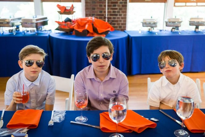 Kids with sunglasses by bar mitzvah photographer, Kelly Williams