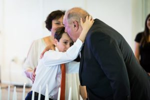 Boy and grandfather by bar mitzvah photographer, Kelly Williams