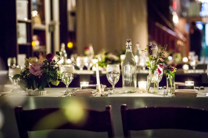 Place setting for a SoHo wedding
