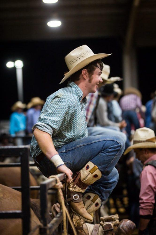 Cowboy at the Bar W Rodeo