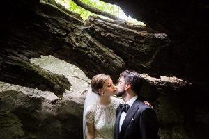 Bride and groom portraits for a Bronx Zoo wedding