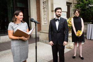 Ceremony at a Bronx Zoo wedding