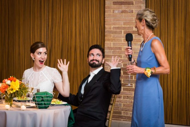 Toasts at a Bronx Zoo wedding