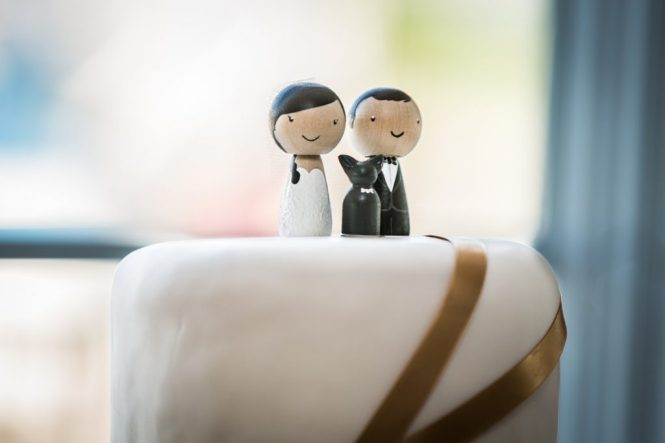 Cake toppers for an article on wedding DIY projects