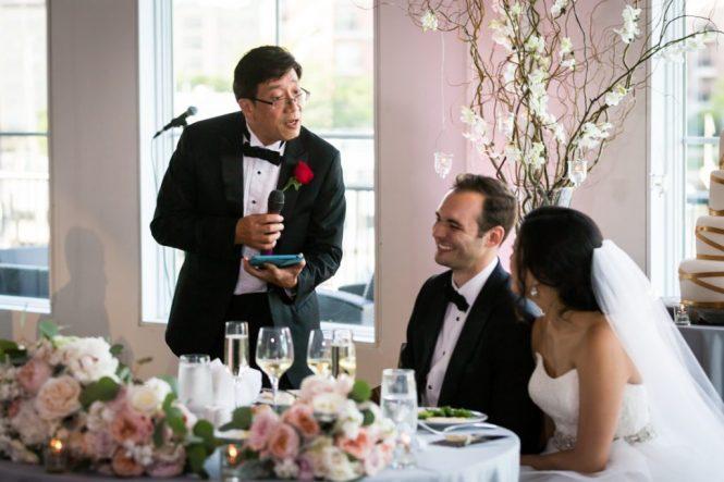Toasts at a Maritime Parc wedding