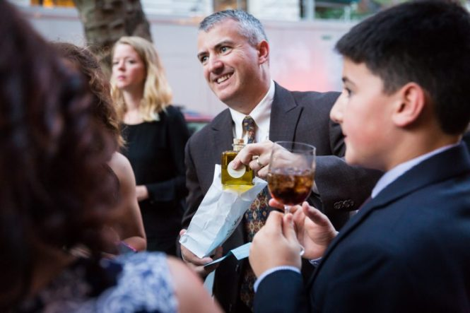 Cocktail hour at a Brooklyn Historical Society wedding