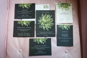 Invitations for a Gallow Green wedding