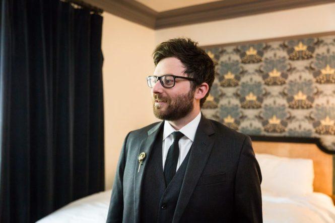 Best man before a Gallow Green wedding