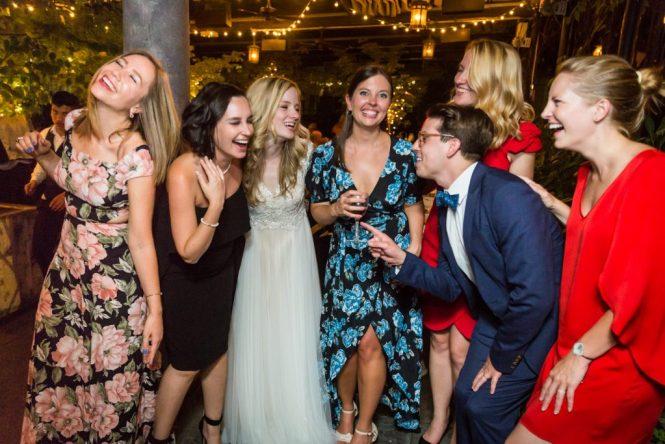 Guests at at a Gallow Green wedding