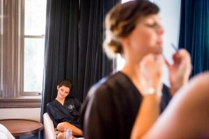 Bridesmaids getting ready for a Gallow Green wedding
