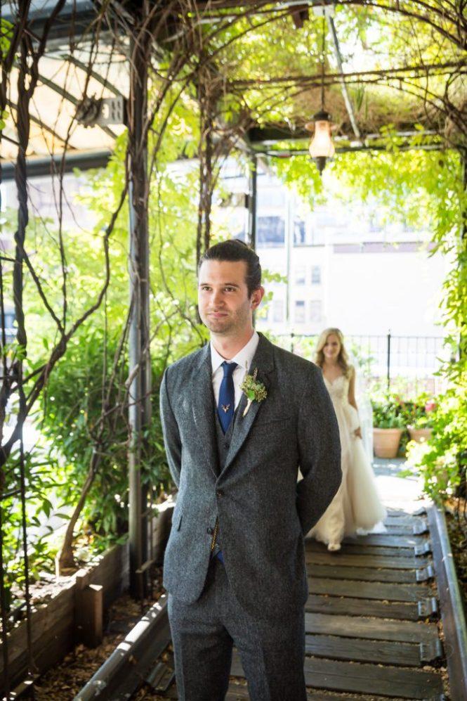 First look before a Gallow Green wedding
