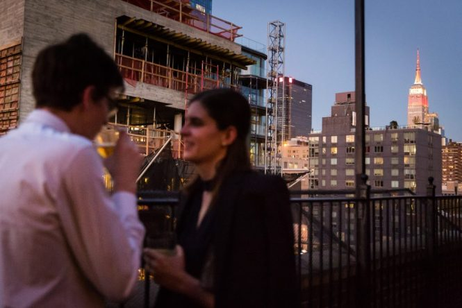 Guests and Empire State Building at at a Gallow Green wedding