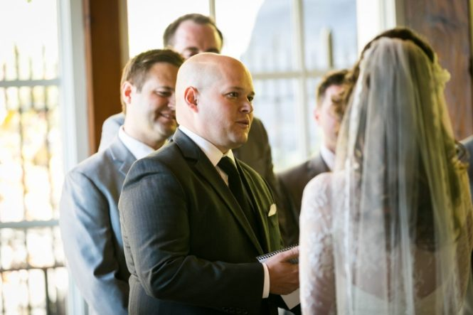 Officiant speaking for an article on wedding officiant tips