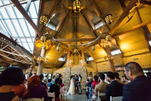 Ceremony at a Bear Mountain Carousel wedding