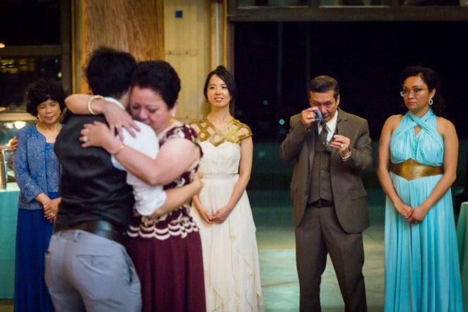 Mother-son dance at a Bear Mountain Carousel wedding