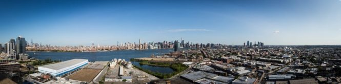 NYC skyline as seen from the William Vale Hotel for an article on elopement tips