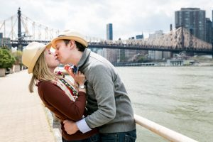 Engagement portrait on Roosevelt Island
